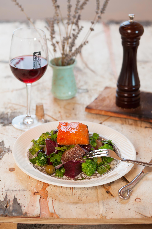 Hot smoked Salmon Rustic Salad
